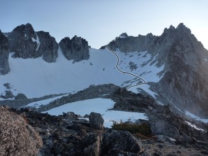 Dragontail Peak Route