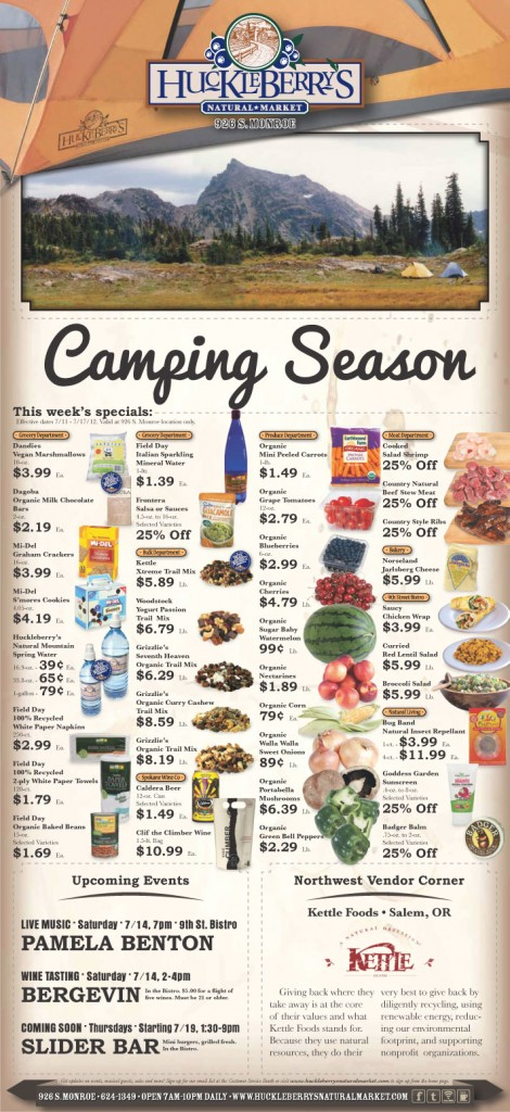 Huckleberry's 7-11-12 Camping Ad