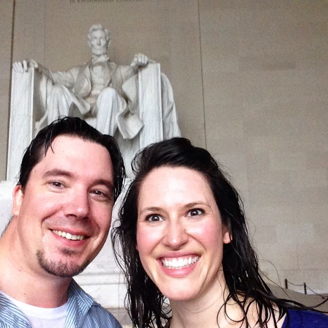 Inside the tornado shelter / Lincoln Memorial #soaked