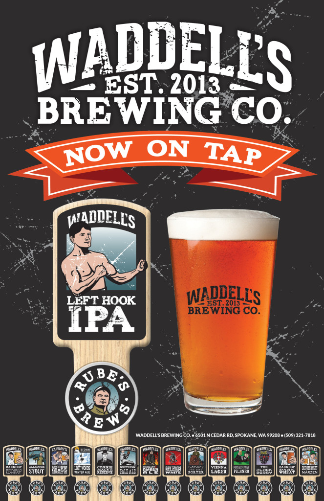 """Waddell's Left Hook IPA 11""""x17"""" Poster"""