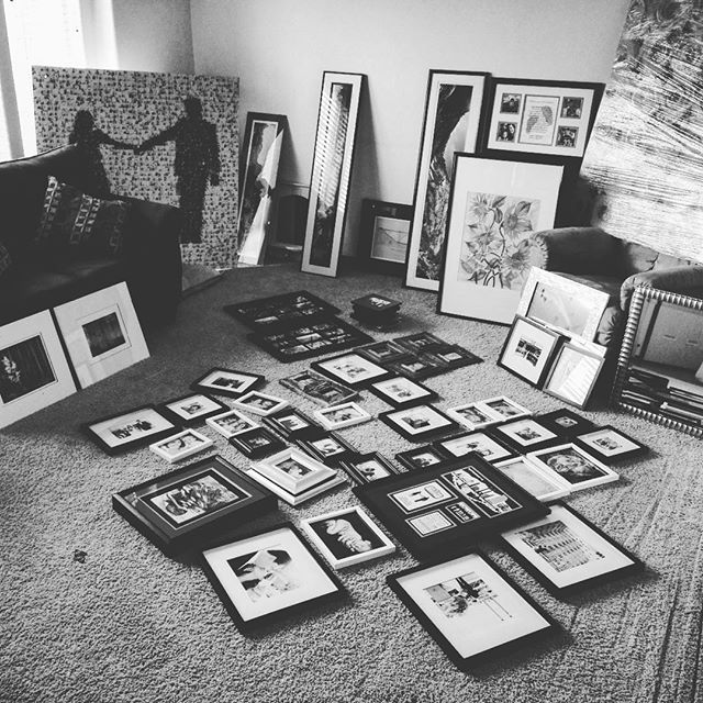 Picture hanging time. Seems excessive. #whysomany #pictureofpictures #needmorenails